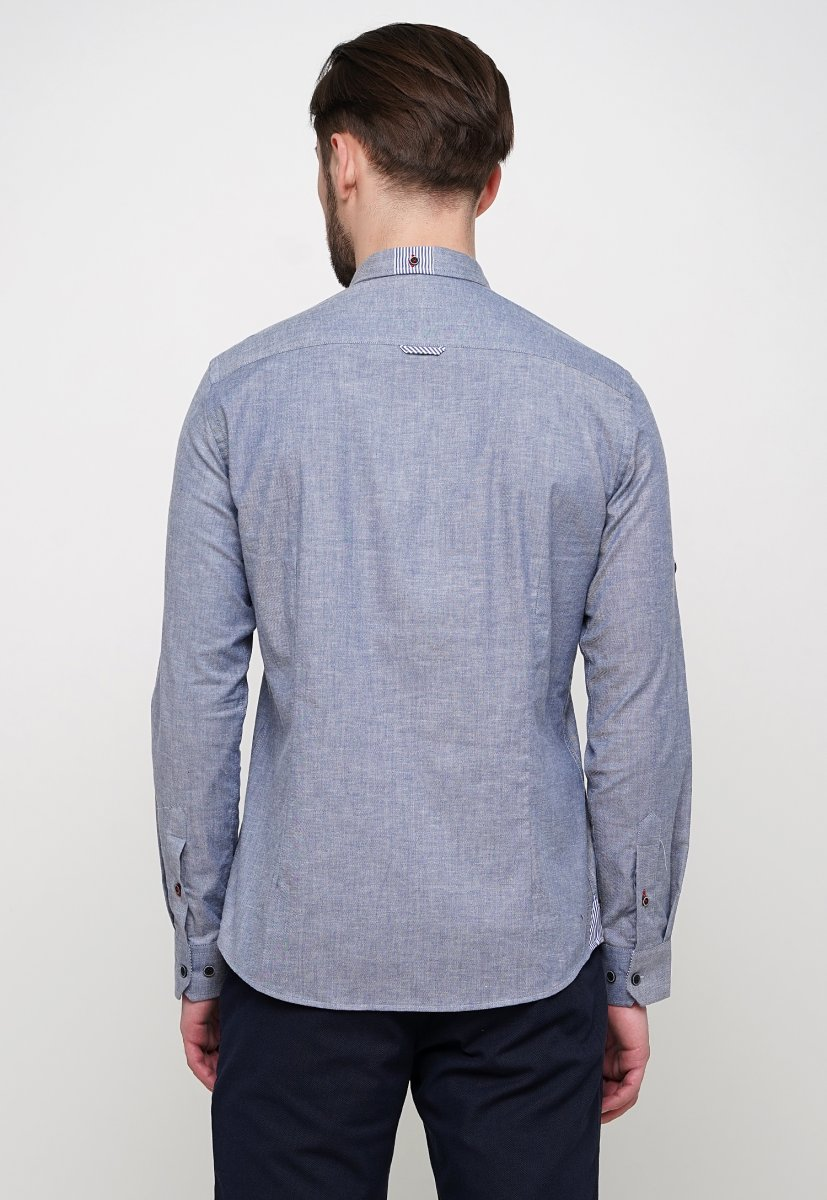 Рубашка Trend Collection 015 Серый - Фото