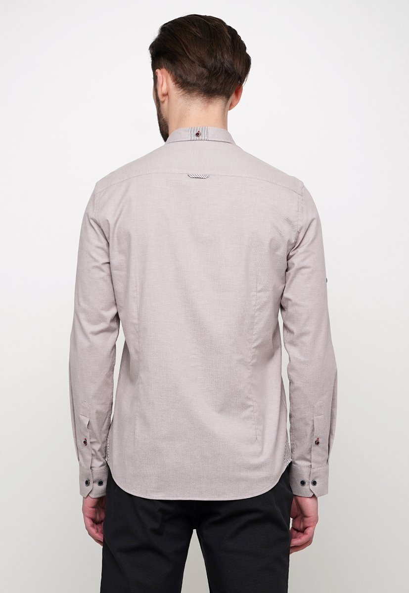 Рубашка Trend Collection 015 Бежевый - Фото