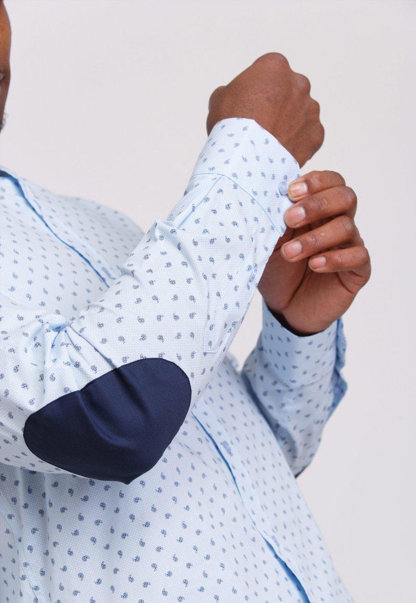 Рубашка мужская Trend Collection 0806 Небесный+синий - Фото 1
