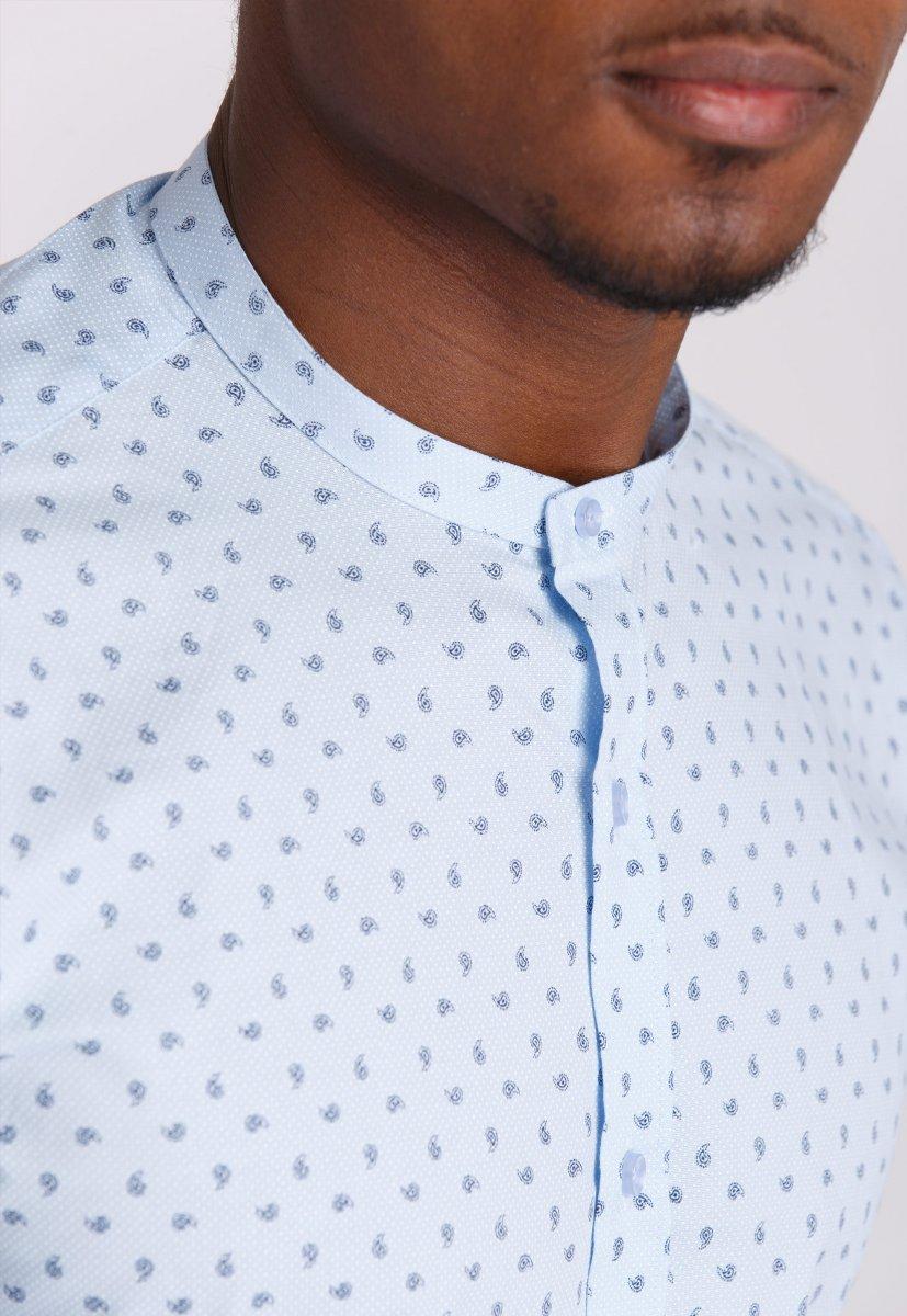 Рубашка мужская Trend Collection 0806 Небесный+синий - Фото 2