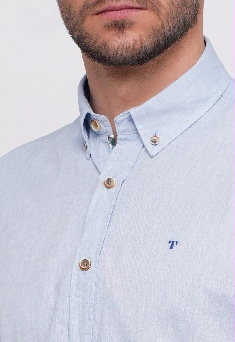 Рубашка Trend Collection 7000 Небесный - Фото 2