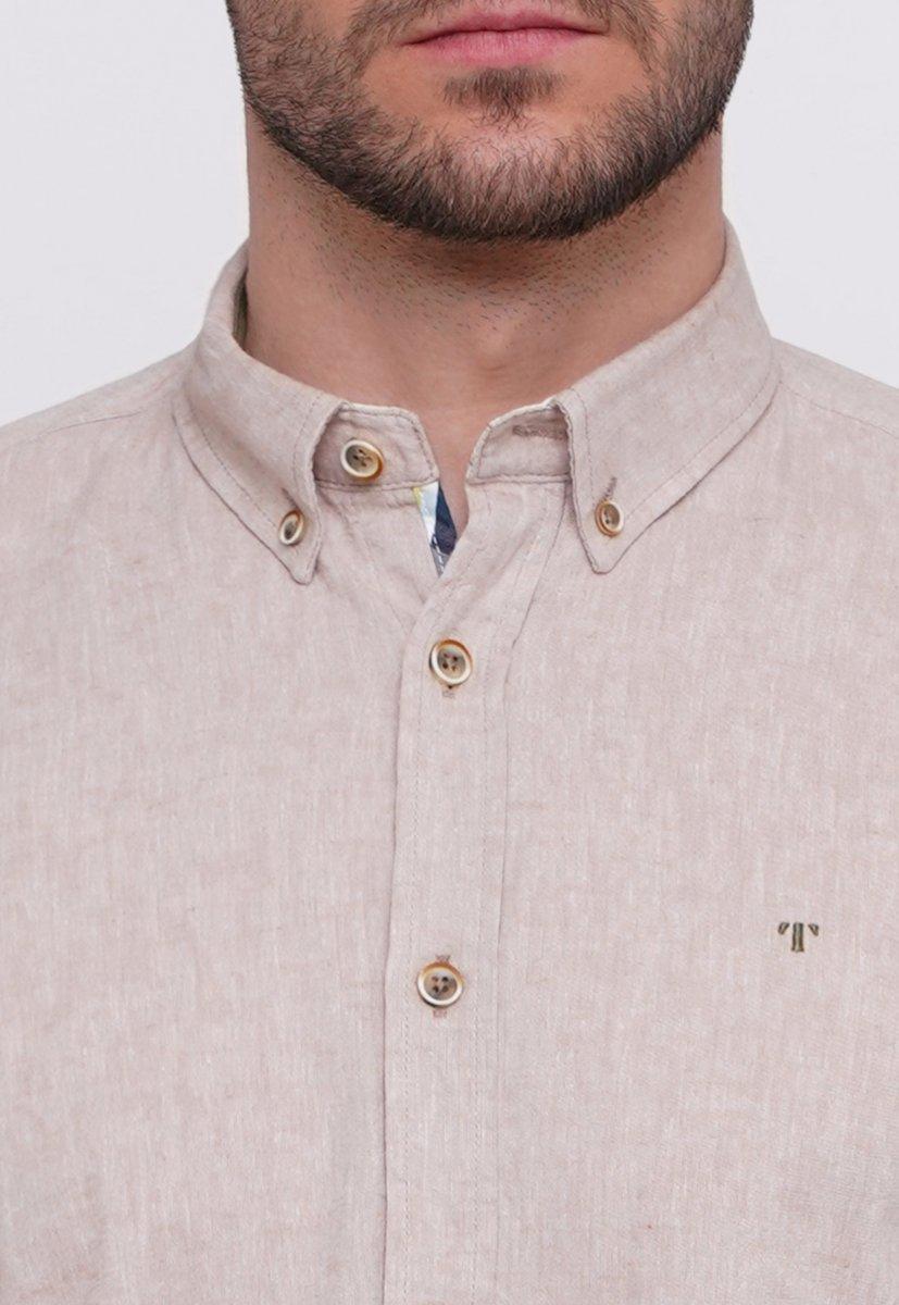 Рубашка Trend Collection 7000 Бежевый - Фото 2