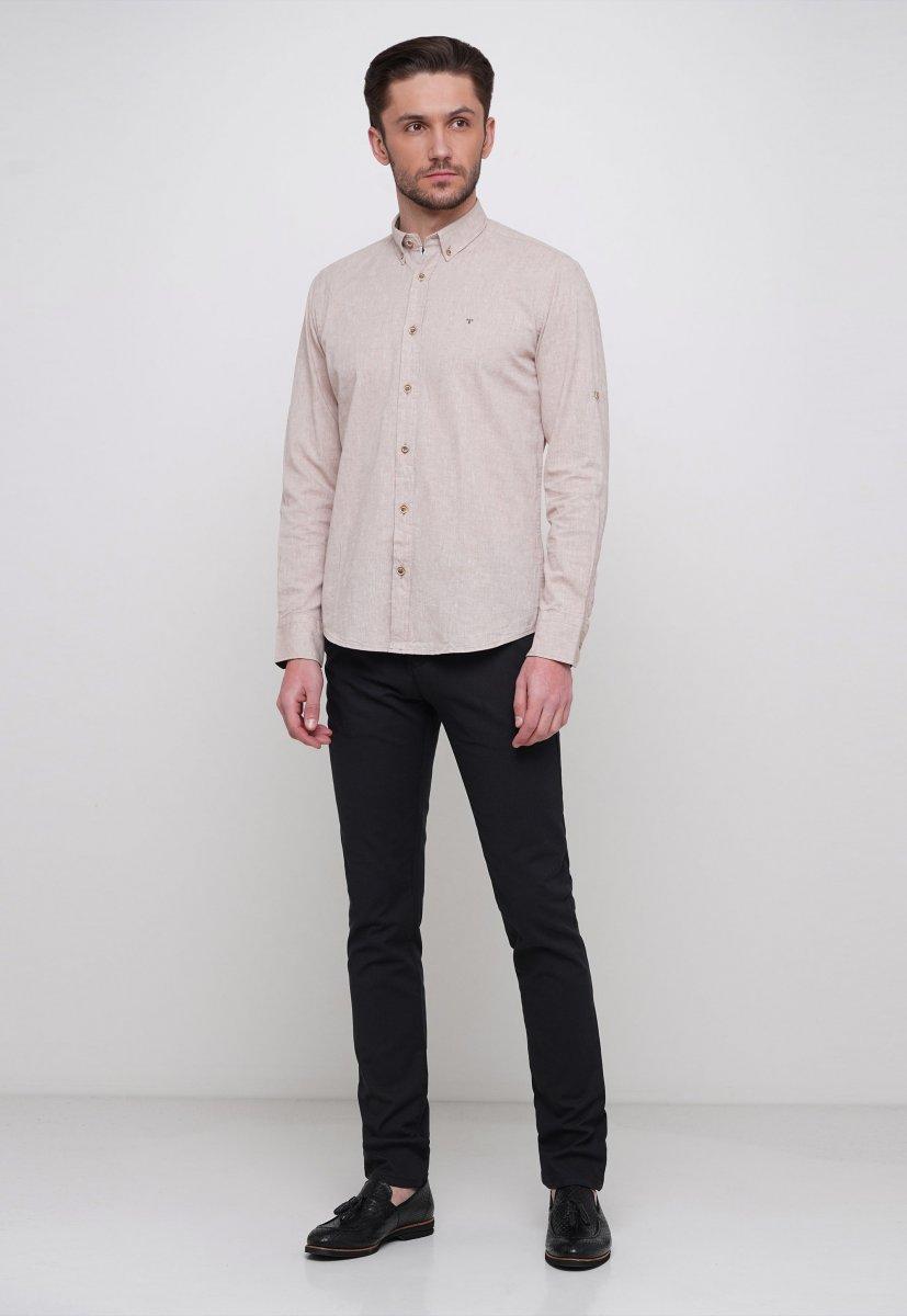 Рубашка Trend Collection 7000 Бежевый - Фото 3