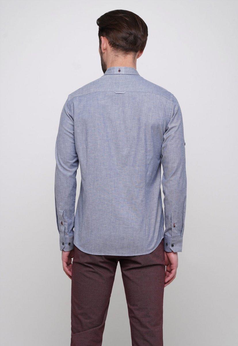 Рубашка Trend Collection 015 Синий - Фото
