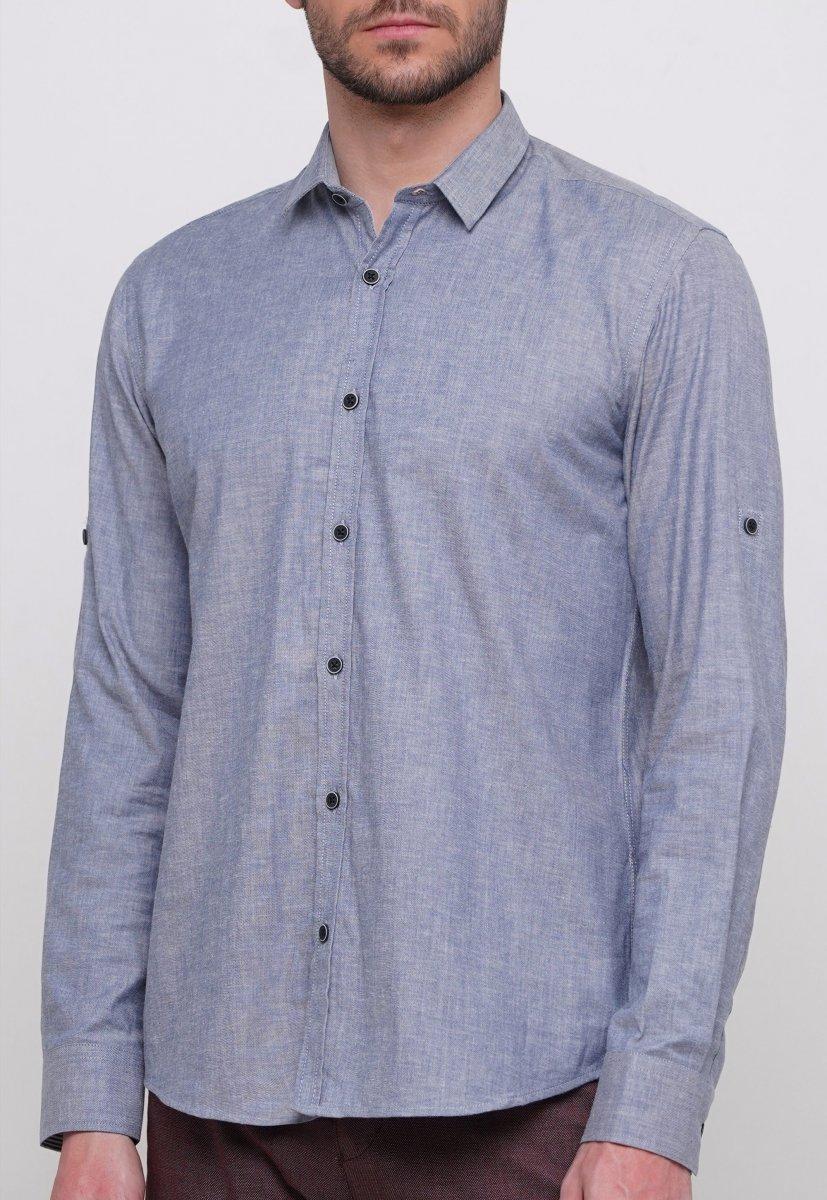 Рубашка Trend Collection 015 Синий - Фото 1