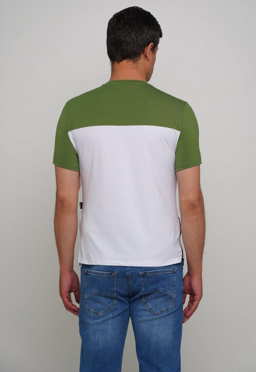 Футболка Trend Collection 81089-1 Зеленый + белый - Фото