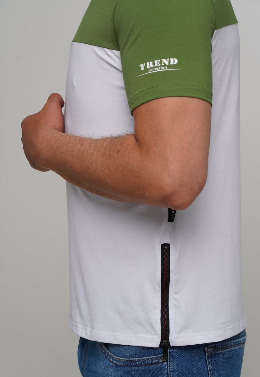 Футболка Trend Collection 81089-1 Зеленый + белый - Фото 1