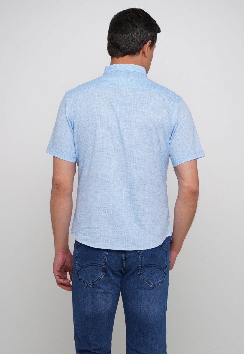 Рубашка Trend Collection 3666 Небесний+біла крапка - Фото