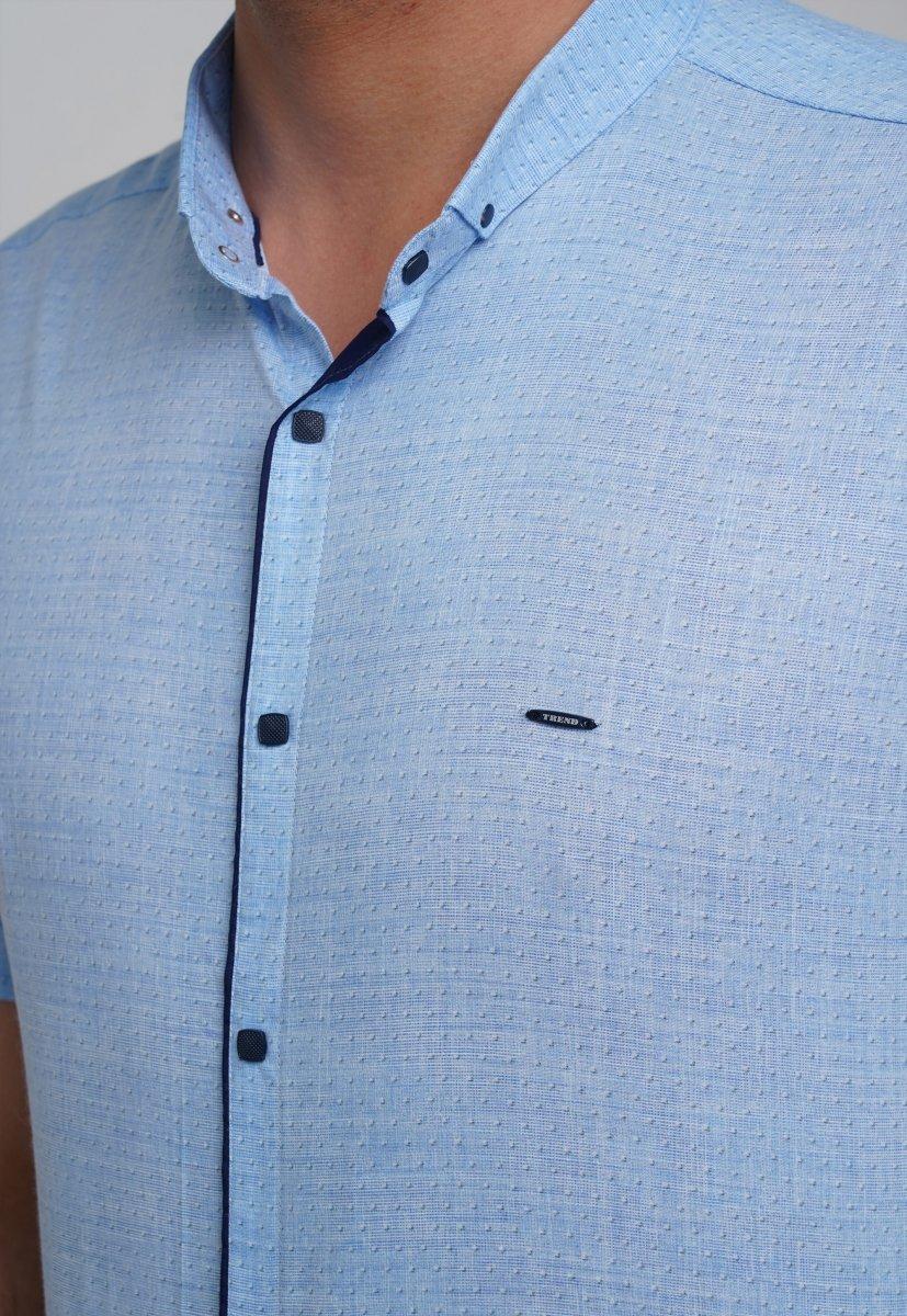 Рубашка Trend Collection 3666 Небесний+біла крапка - Фото 1