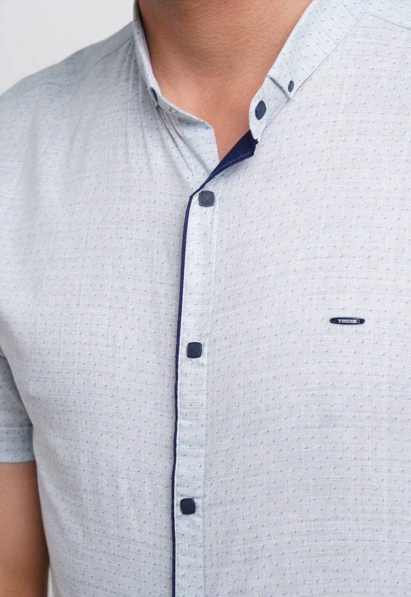 Рубашка Trend Collection 3666 Серый+небесная точка - Фото 2