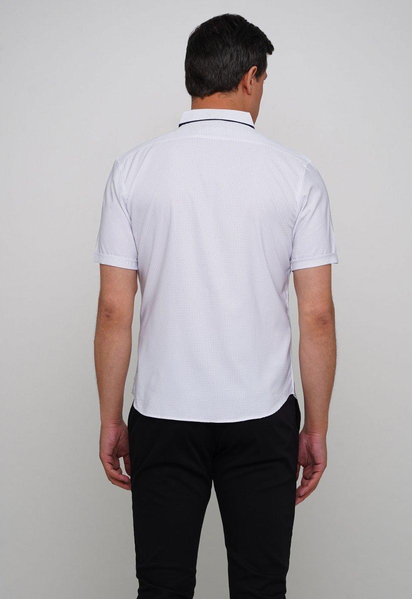 Рубашка Trend Collection 18273 Белый+синяя точка - Фото