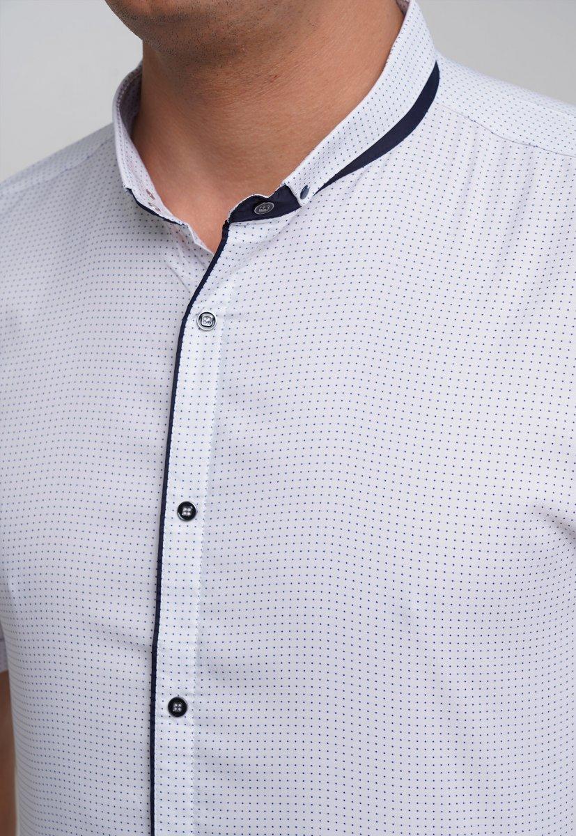 Рубашка Trend Collection 18273 Белый+синяя точка - Фото 1