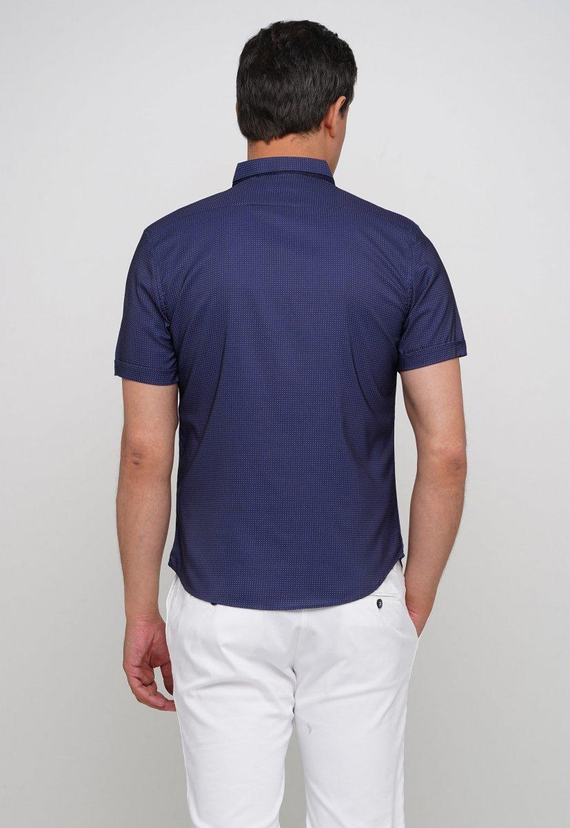 Рубашка Trend Collection 18273 Синий+белая точка - Фото