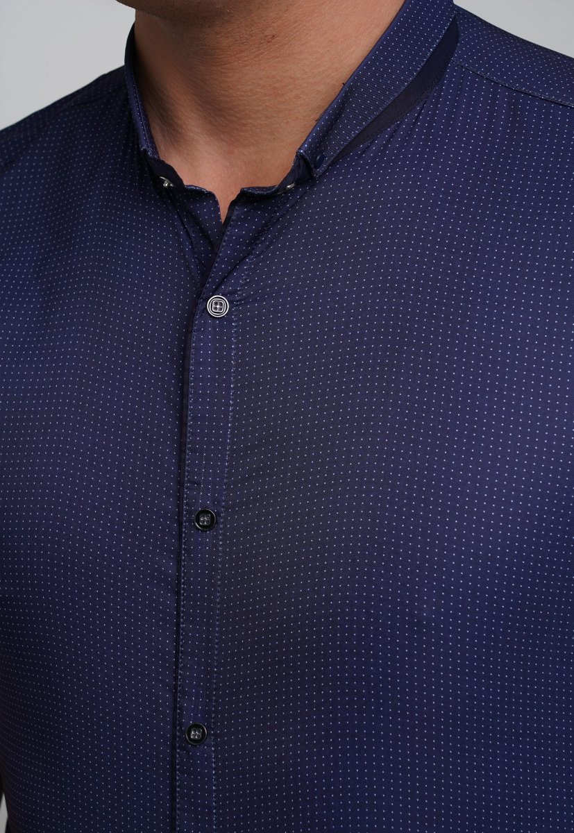 Рубашка Trend Collection 18273 Синий+белая точка - Фото 1