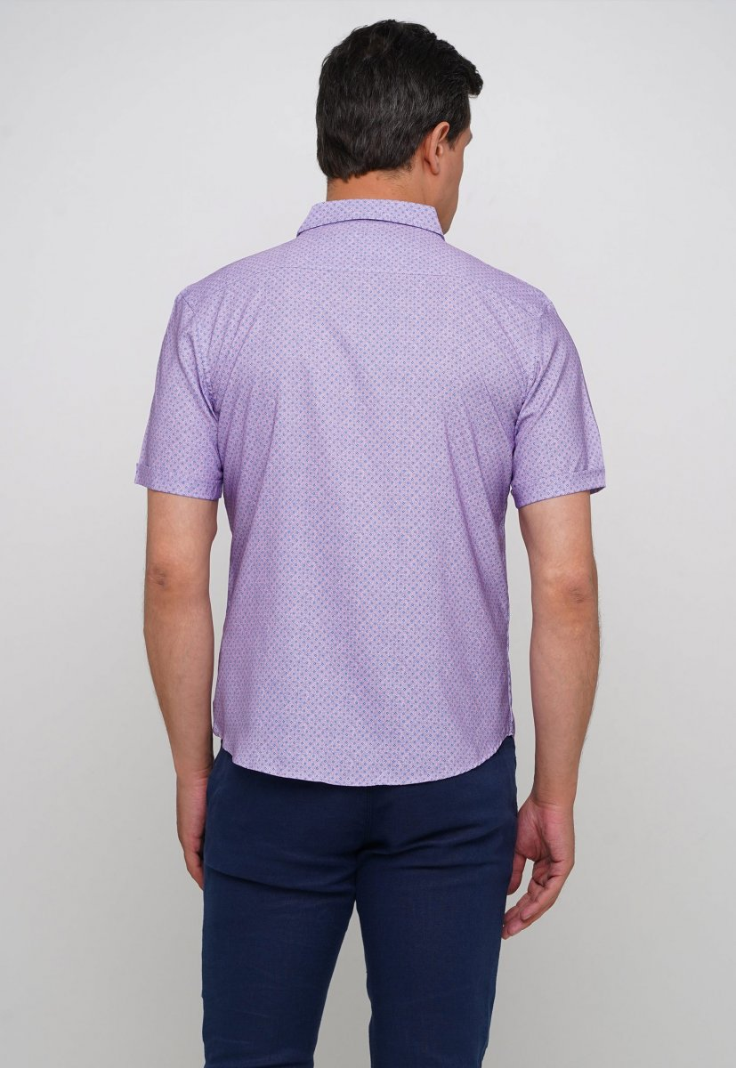 Рубашка Trend Collection 19771 Розовый+небесный ромб - Фото
