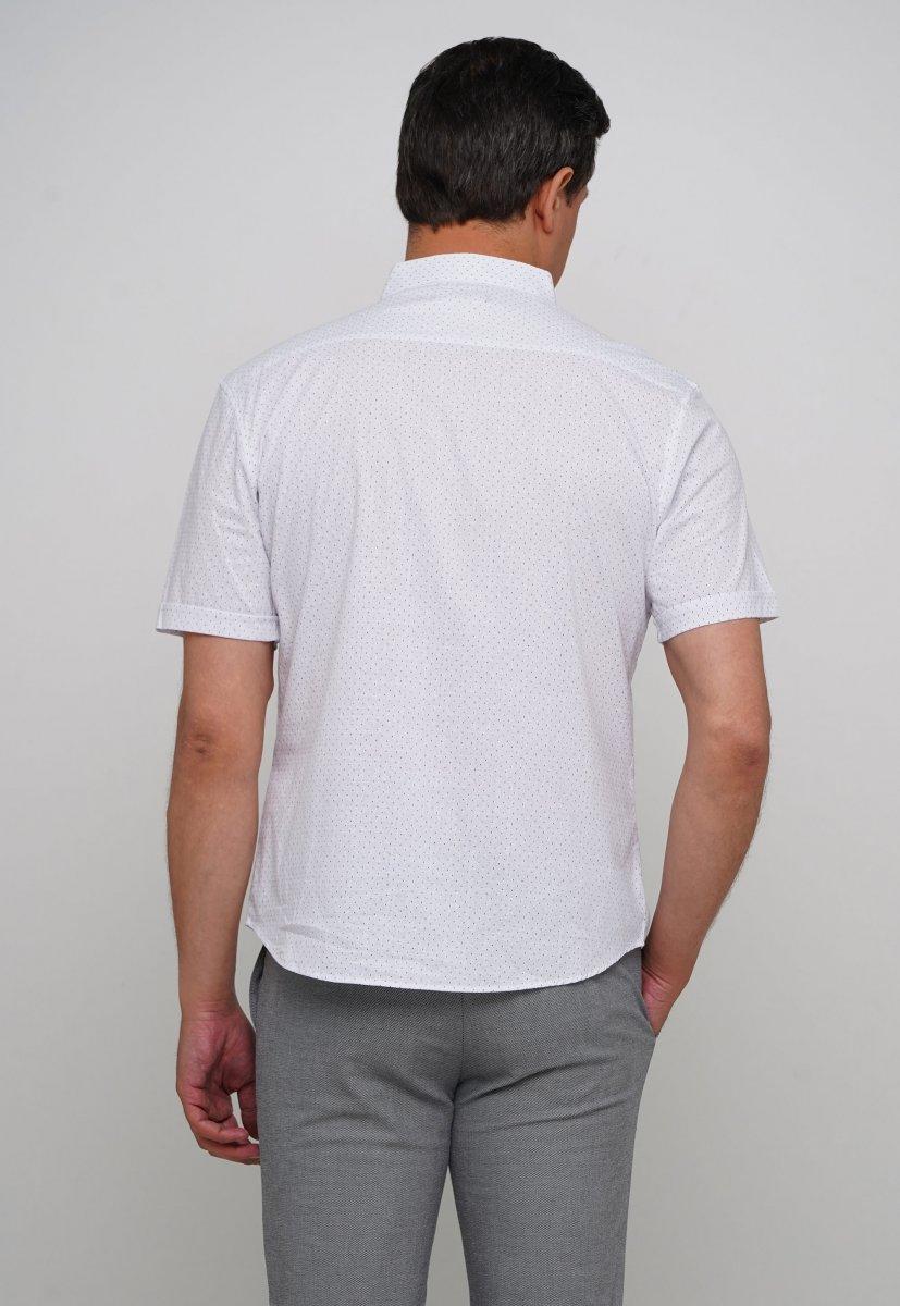 Рубашка Trend Collection 19643 Белый+синяя точка - Фото