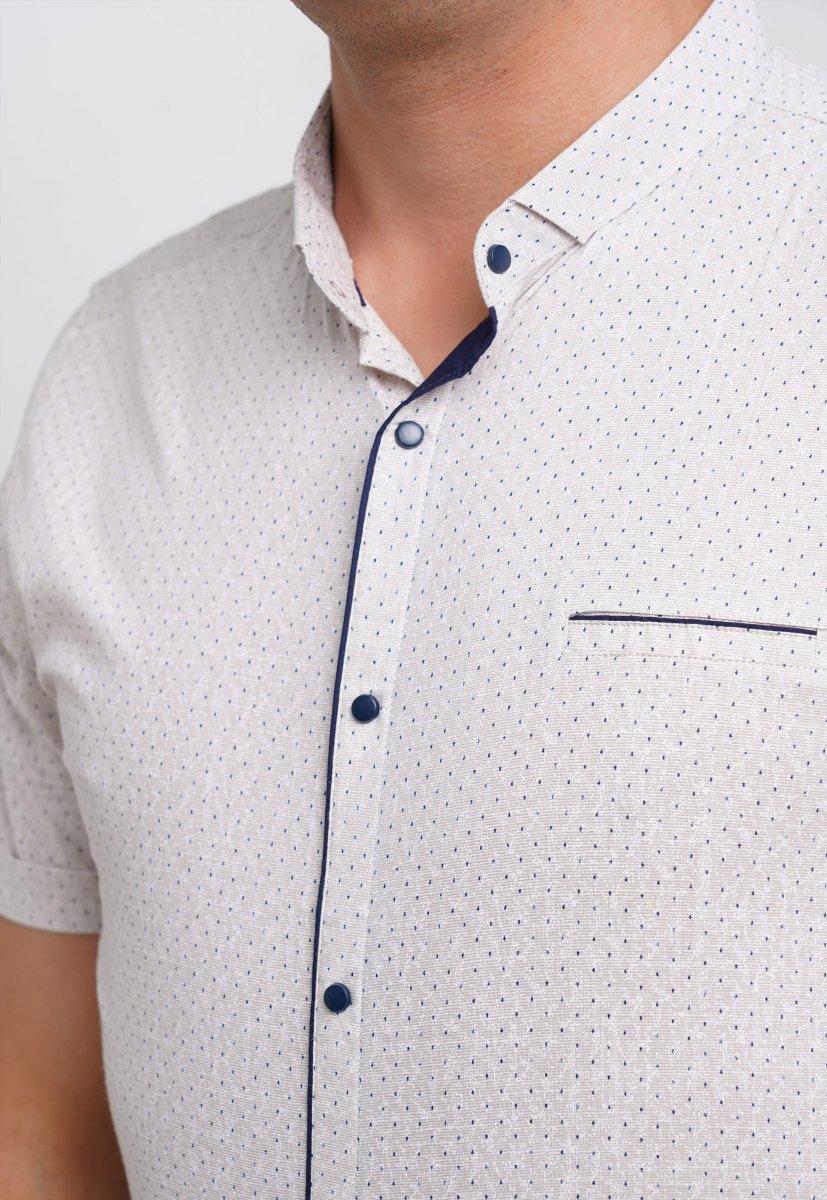 Рубашка Trend Collection 19643 Белый+синяя точка - Фото 1