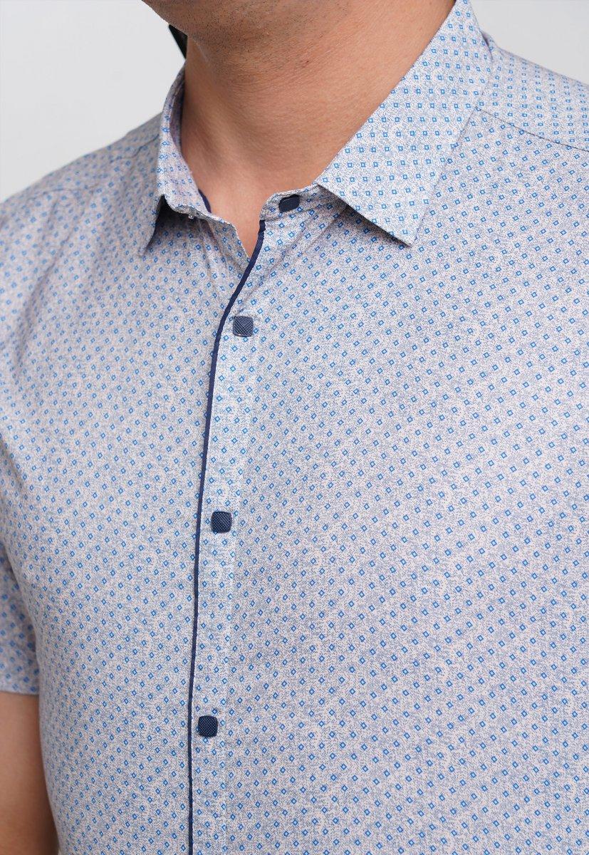 Рубашка Trend Collection 19771 Серый+небесный ромб - Фото 1