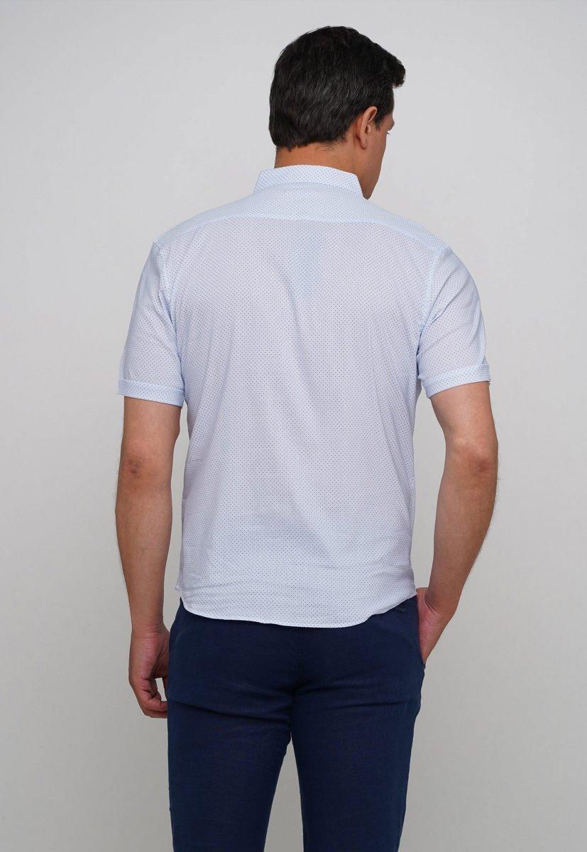 Рубашка Trend Collection 19859 Белый+синяя точка - Фото 1