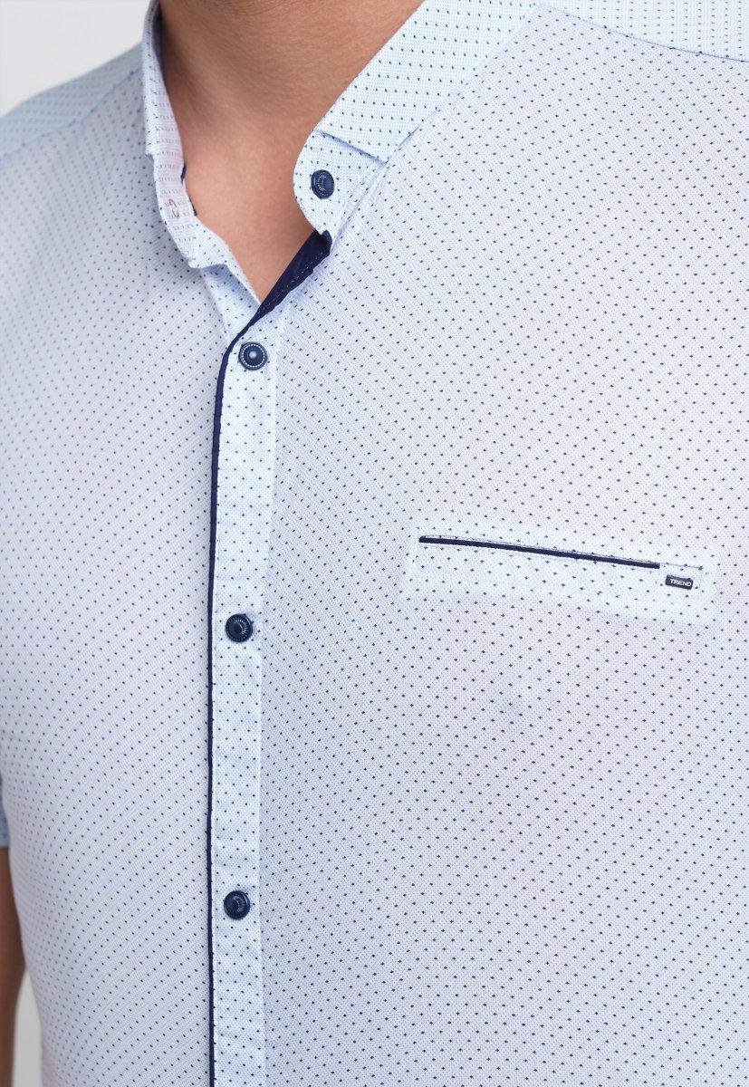 Рубашка Trend Collection 19859 Белый+синяя точка - Фото 2