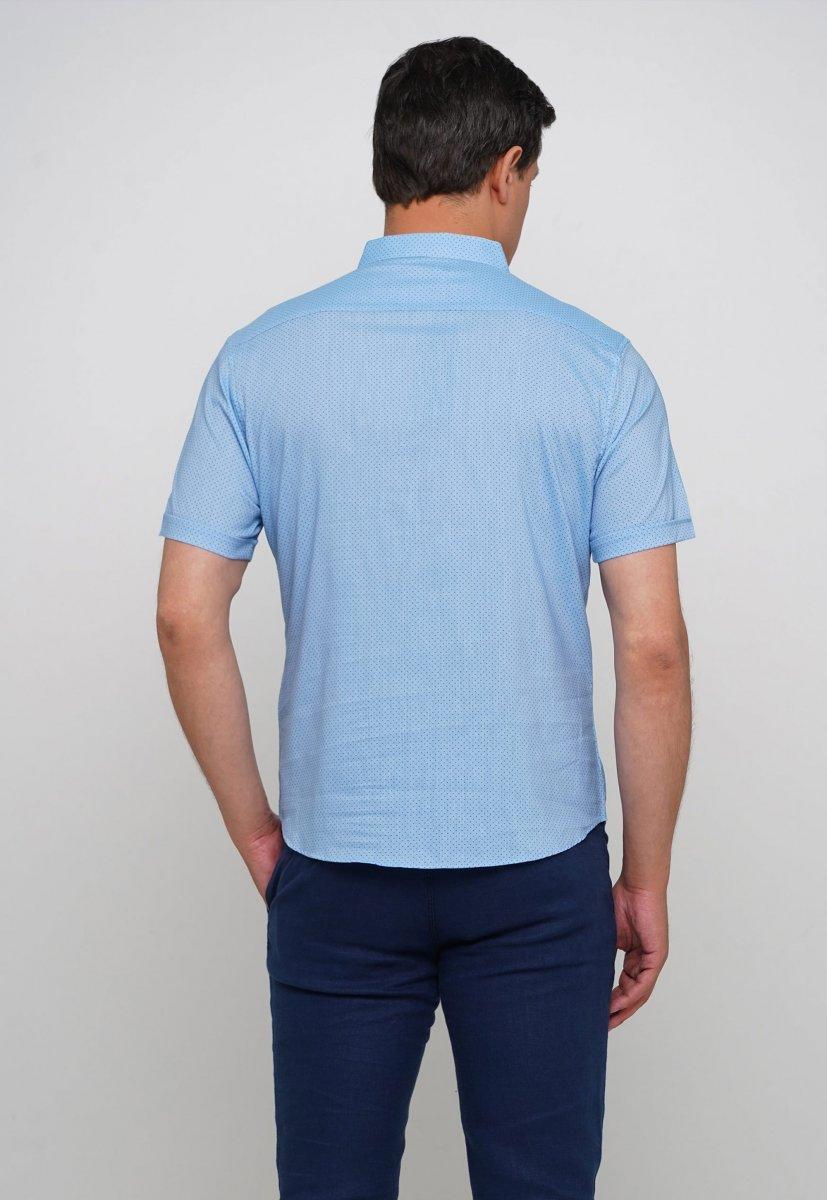 Рубашка Trend Collection 19859 Небесный+синяя точка - Фото 1