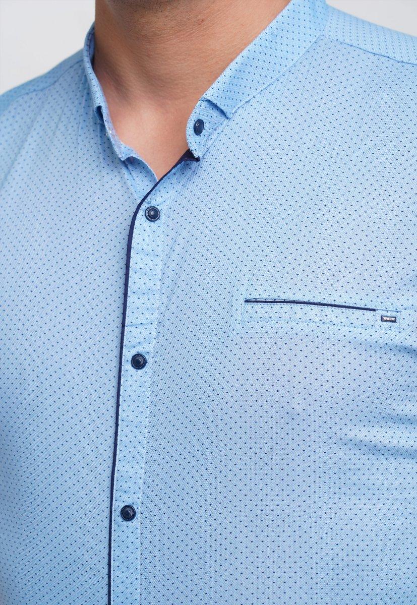 Рубашка Trend Collection 19859 Небесный+синяя точка - Фото 2