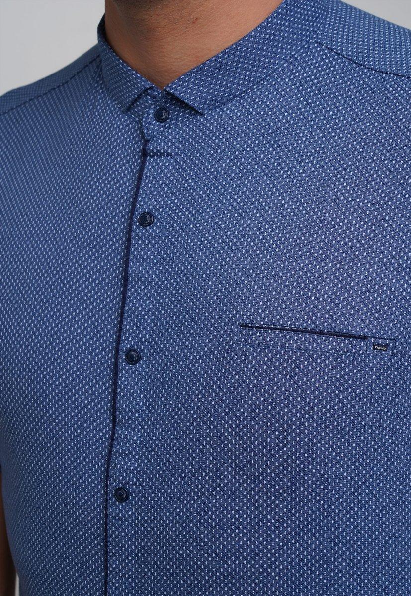 Рубашка Trend Collection 19859 Синий+белая точка - Фото
