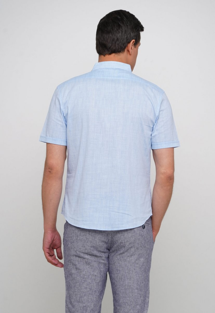 Рубашка Trend Collection 19869 Небесный - Фото 1