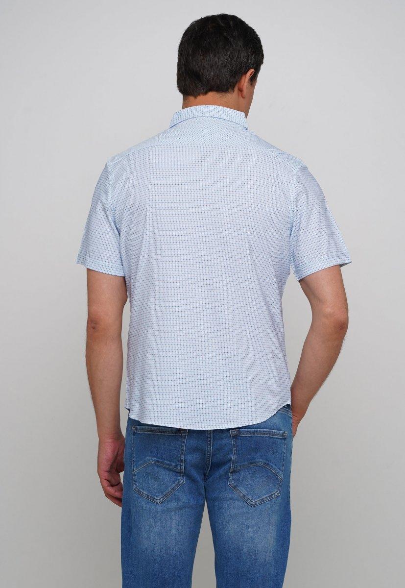 Рубашка Trend Collection 19897 Белый+синий квадрат - Фото 1