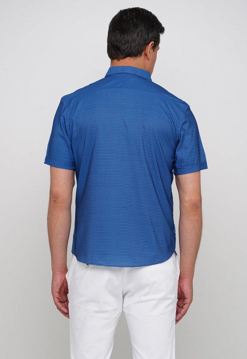 Рубашка Trend Collection 19897 Синий+небесный квадрат - Фото 1
