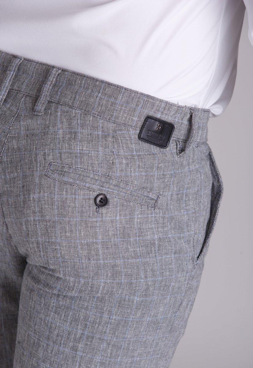 Брюки Trend Collection 4025 Серый + небесная клетка - Фото 1