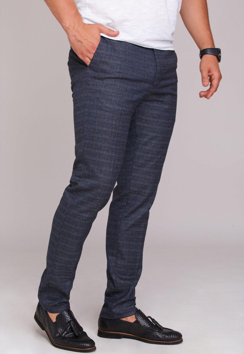 Брюки Trend Collection 970 Темно-синий + клетка (NAVY) - Фото 1