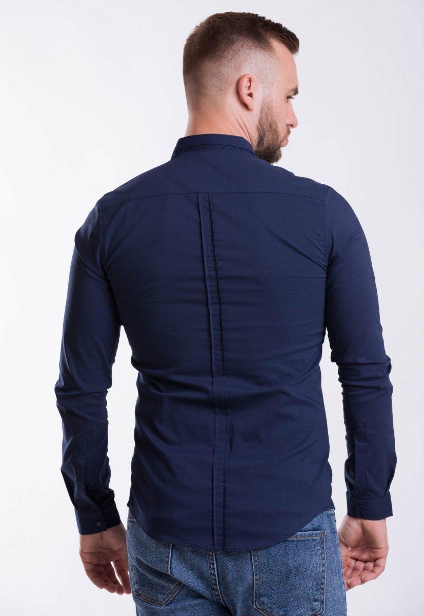 Мужская рубашка Trend Collection 3414-7 Темно-синий - Фото