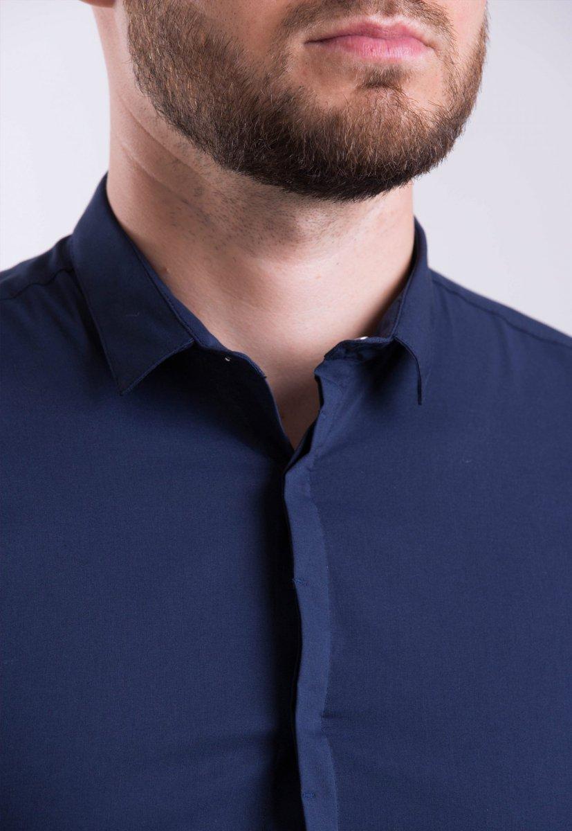 Мужская рубашка Trend Collection 3414-7 Темно-синий - Фото 1