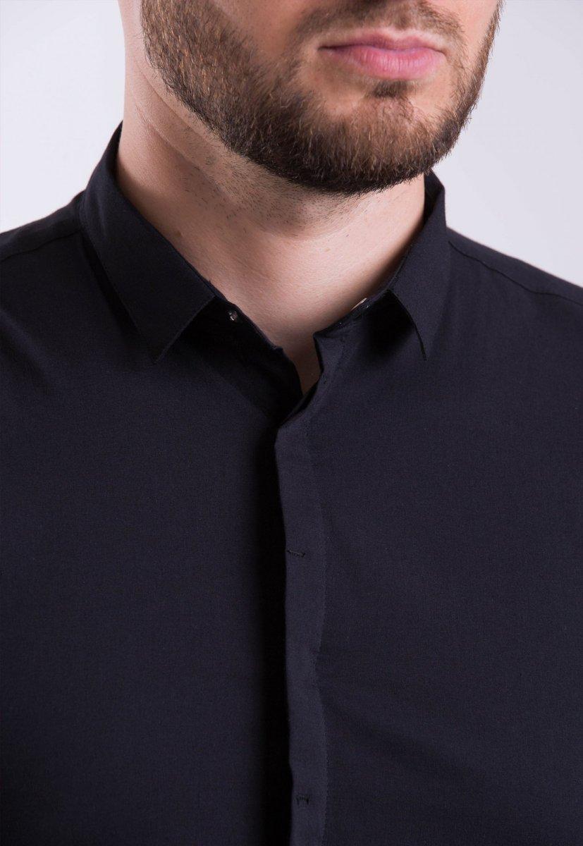 Мужская рубашка Trend Collection 3414-7 Черный - Фото