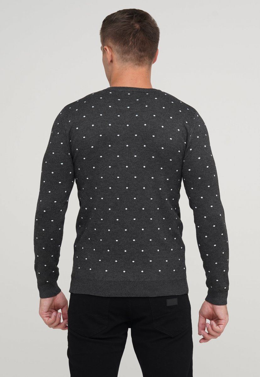 Свитер мужской Trend Collection 9673 Серый - Фото 1