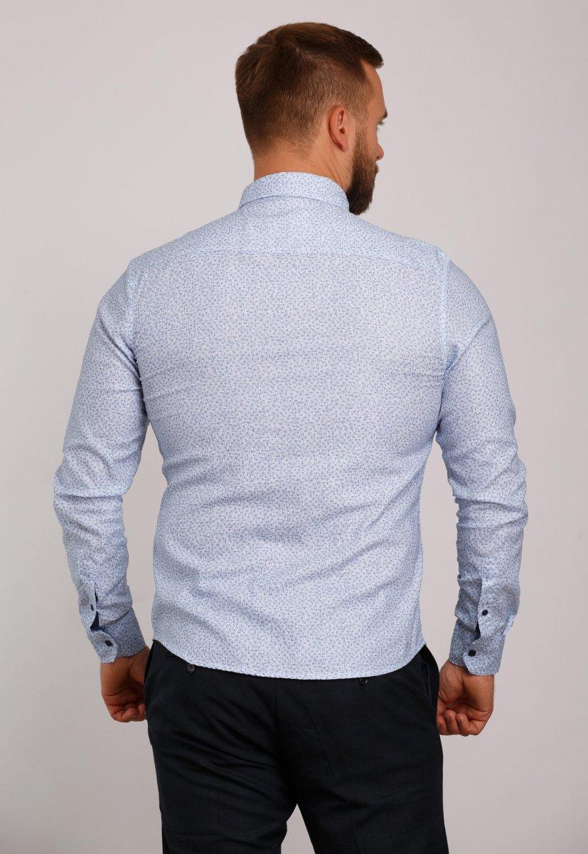 Мужская рубашка Trend Collection 10322 Небесный+узор V04 - Фото
