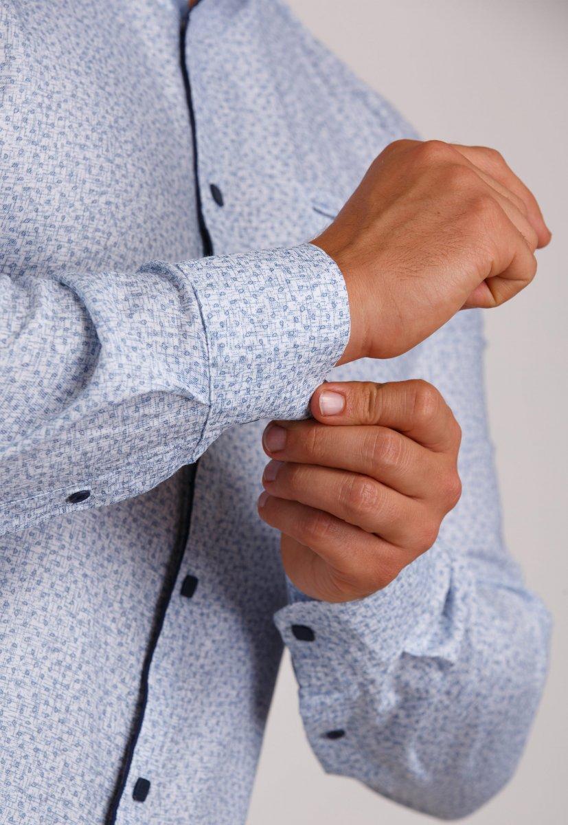 Мужская рубашка Trend Collection 10322 Небесный+узор V04 - Фото 2