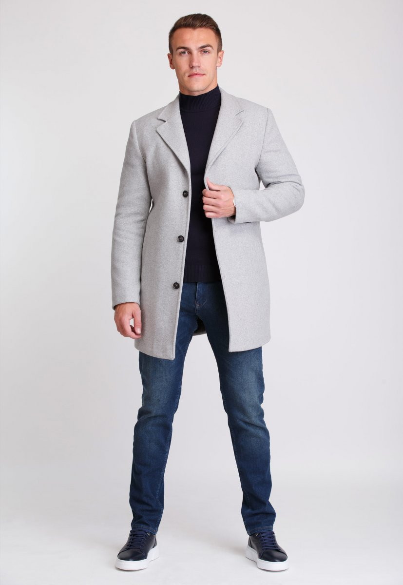 Пальто Trend Collection 553 Светло-серый - Фото