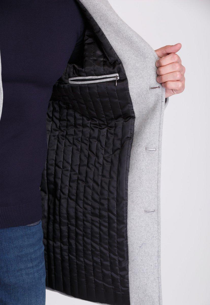 Пальто Trend Collection 553 Светло-серый - Фото 2