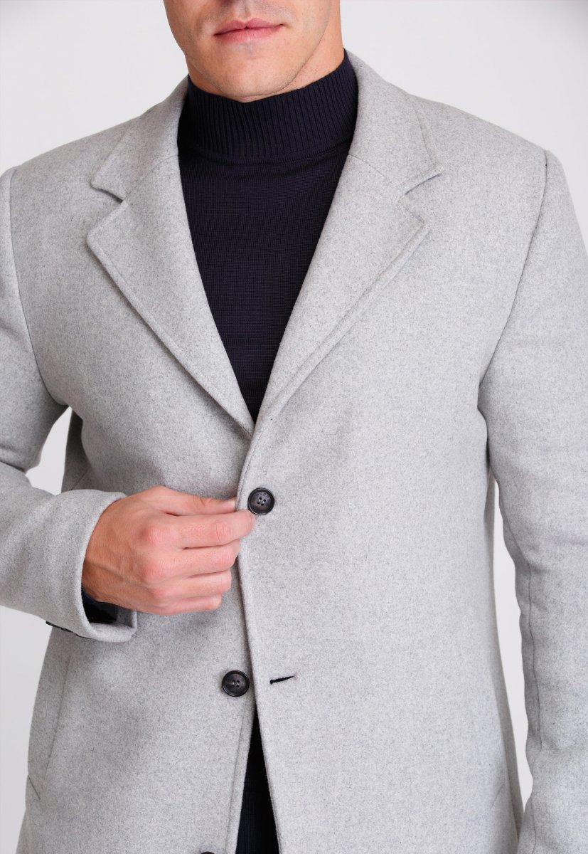 Пальто Trend Collection 553 Светло-серый - Фото 3