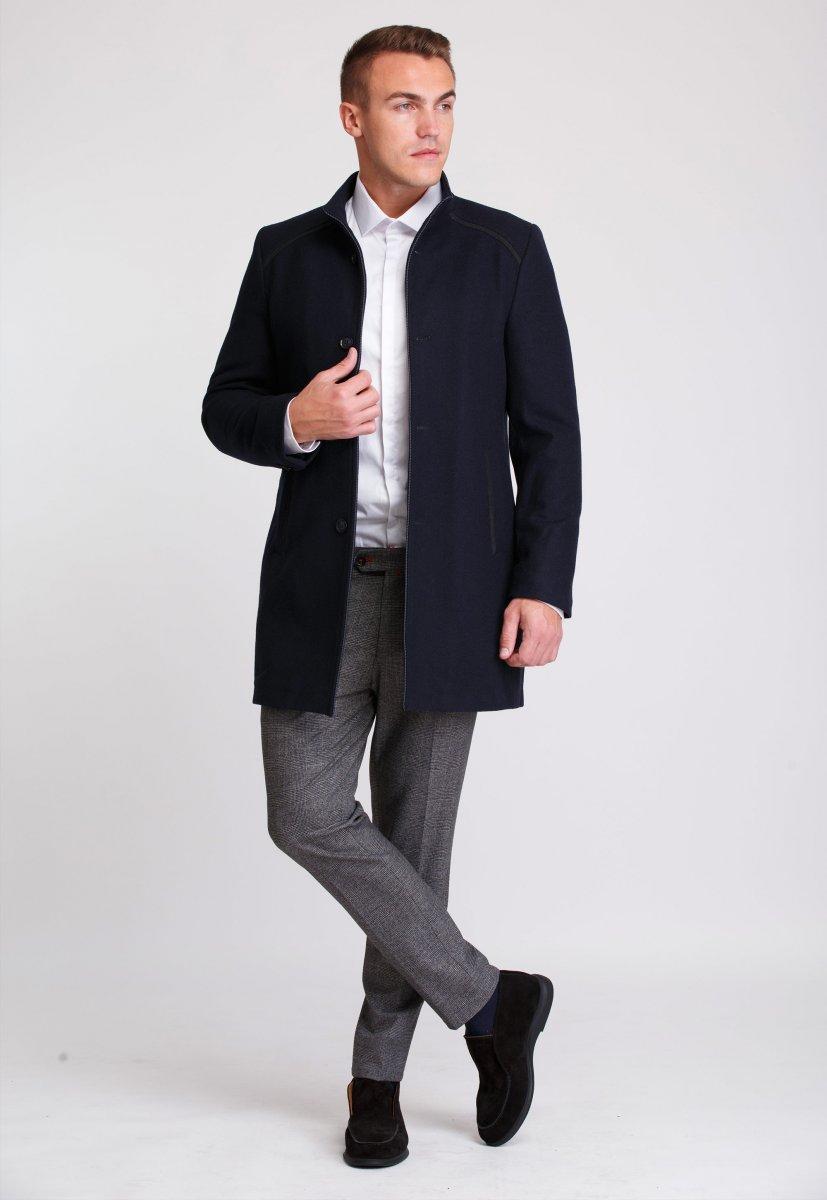 Пальто Trend Collection 515 Темно-синий - Фото