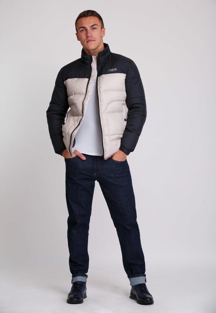 Куртка Trend Collection 20-36 Бежевый+синий - Фото 1