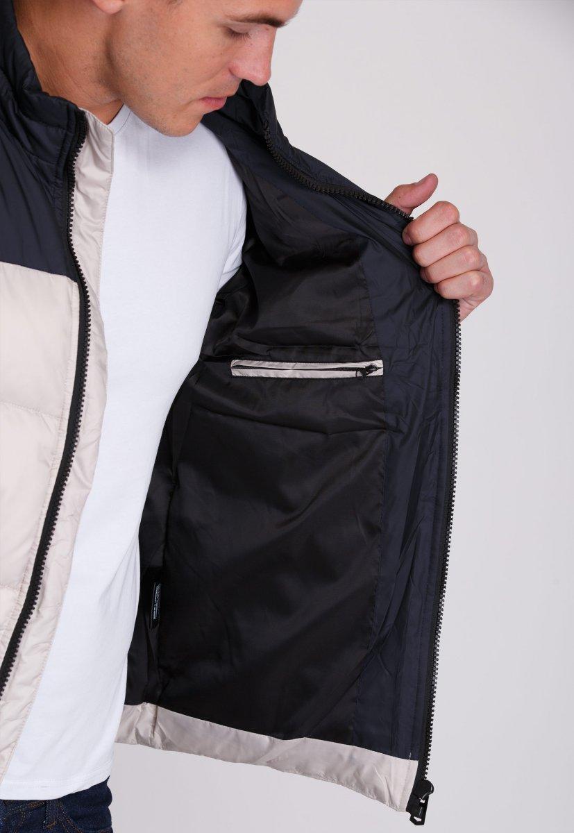 Куртка Trend Collection 20-36 Бежевый+синий - Фото 3