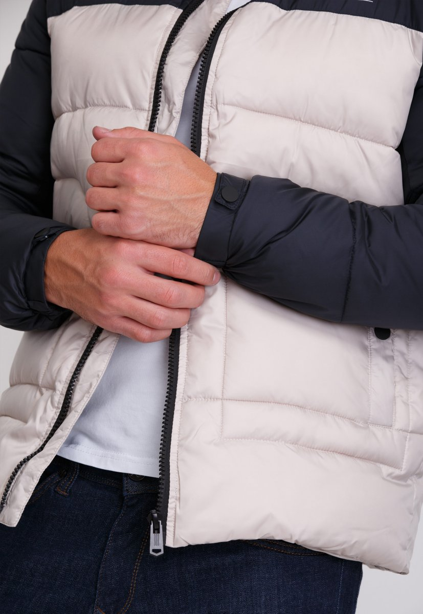 Куртка Trend Collection 20-36 Бежевый+синий - Фото 4