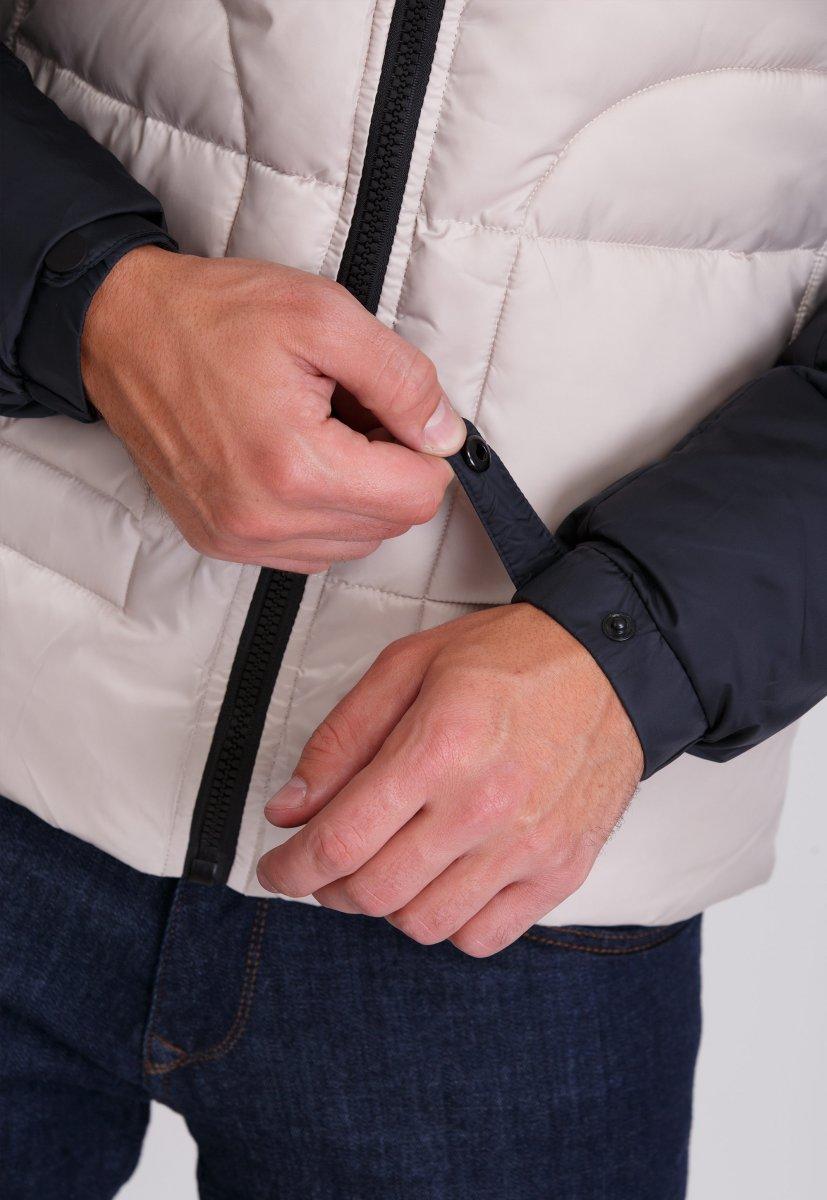 Куртка Trend Collection 20-36 Бежевый+синий - Фото 6