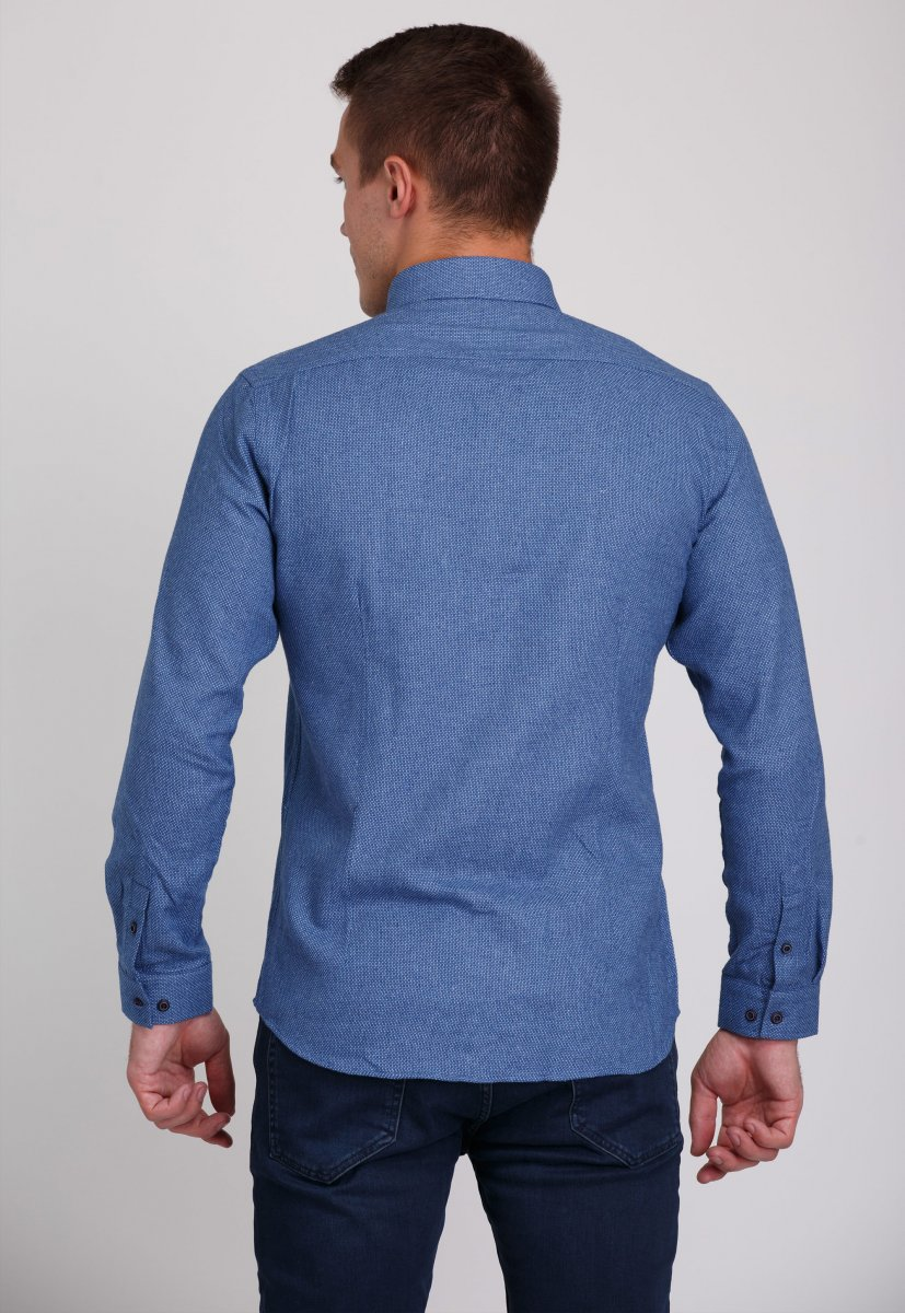 Рубашка Trend Collection 7007 Синий+небесная точка №7 - Фото