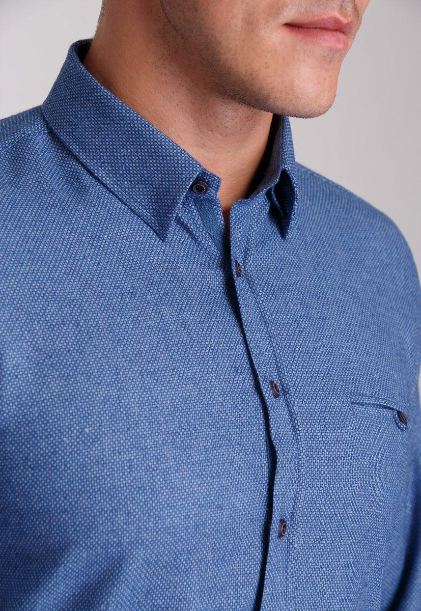 Рубашка Trend Collection 7007 Синий+небесная точка №7 - Фото 1