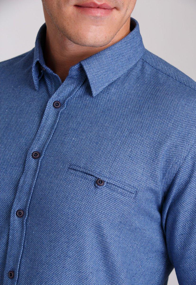 Рубашка Trend Collection 7007 Синий+небесная точка №7 - Фото 2