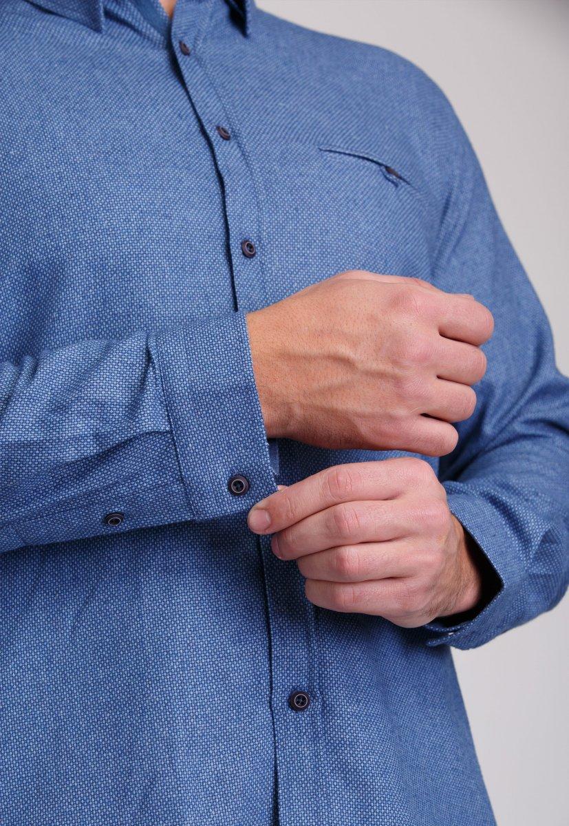 Рубашка Trend Collection 7007 Синий+небесная точка №7 - Фото 3